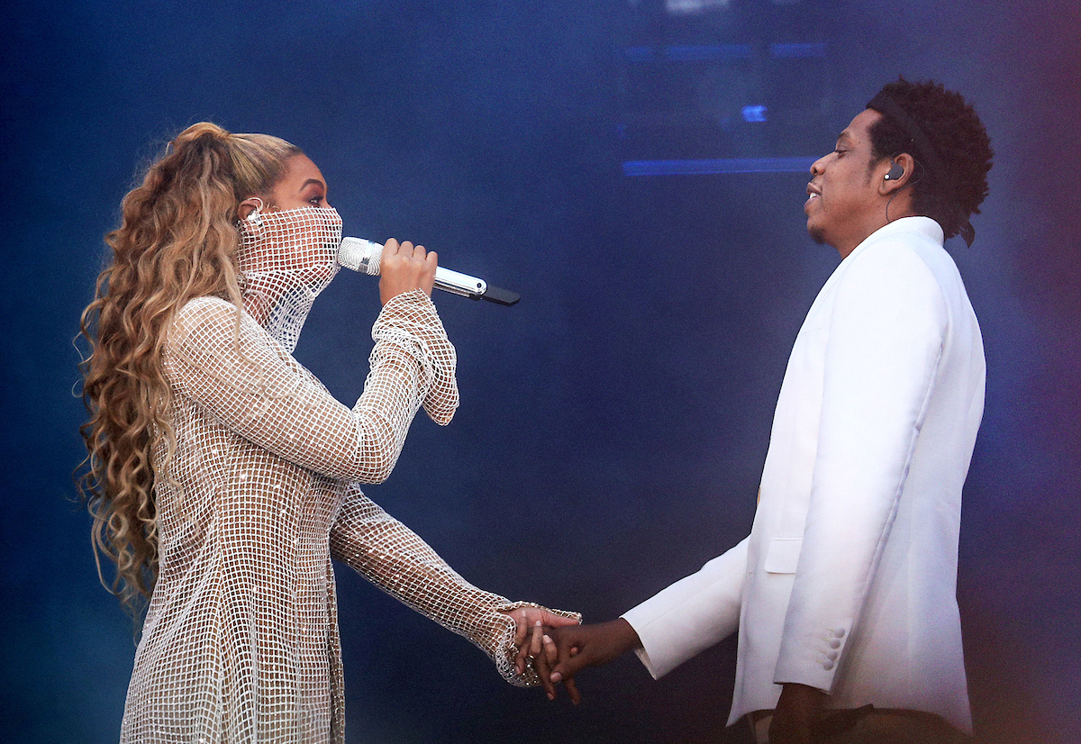 GLASGOW, UK - JUNE 9: Beyonce and Jay-Z perform on the 'On The Run II' tour at Hampden Park on June 9, 2018 in Glasgow, Scotland, UK. (Photo by Raven Varona/Parkwood/PictureGroup)