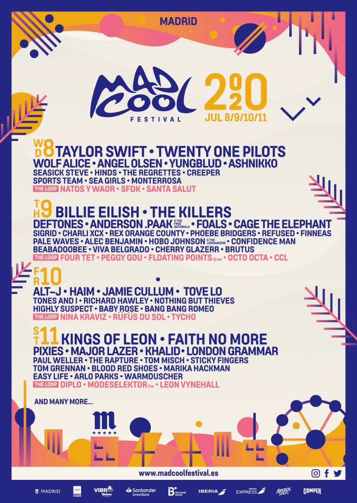 Mad Cool Festival Lineup - Updated December 2019